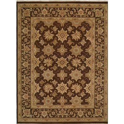 Hand-Woven Brown Area Rug Rug size: 12 x 18