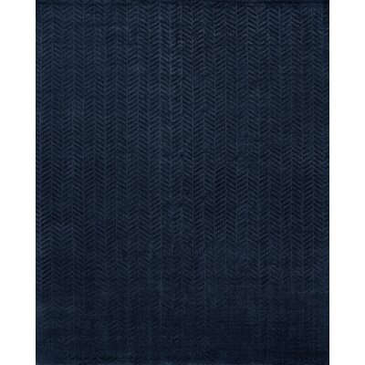 Handwoven Blue Area Rug Rug Size: 6 x 9