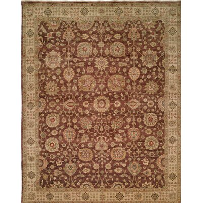 Hand-Knotted Brown Area Rug Rug Size: 12 x 18