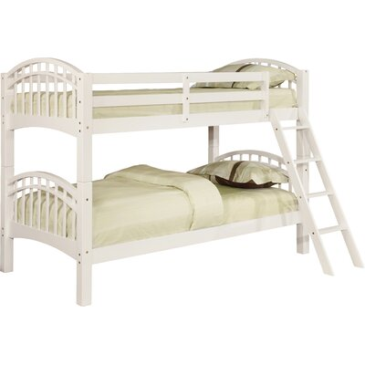 Flynn over Twin Bunk Bed Color: White