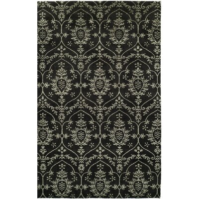 Hand-Woven Black Area Rug Rug size: 2 x 3