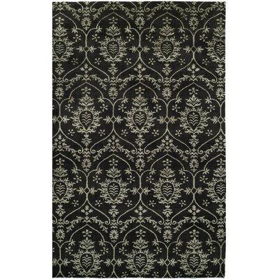 Hand-Woven Black Area Rug Rug size: Runner 26 x 10