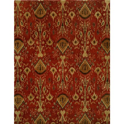 Hand-Tufted Red/Brown Area Rug Rug size: Rectangle 8 x 10