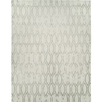 Hand-Woven Gray Area Rug Rug size: Runner 2'6