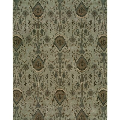 Hand-Tufted Gray Area Rug Rug size: 8 x 10