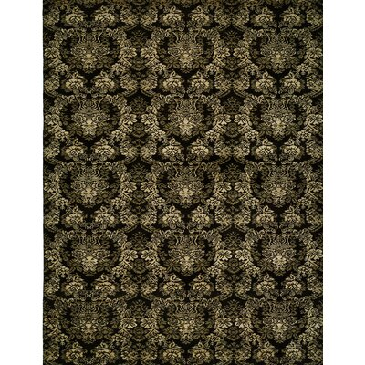 Hand-woven Black Area Rug Rug size: 8 x 10