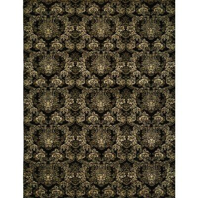 Hand-woven Black Area Rug Rug size: 8 x 10