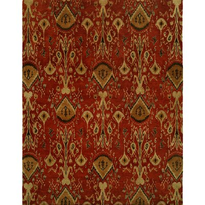 Hand-Tufted Red/Brown Area Rug Rug size: Rectangle 6 x 9