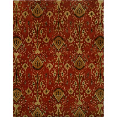 Hand-Tufted Red/Brown Area Rug Rug size: Rectangle 9 x 12