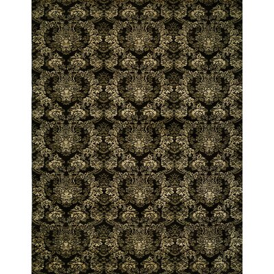 Hand-woven Black Area Rug Rug size: 4 x 6