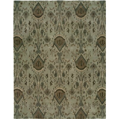 Hand-Tufted Gray Area Rug Rug size: 96 x 136