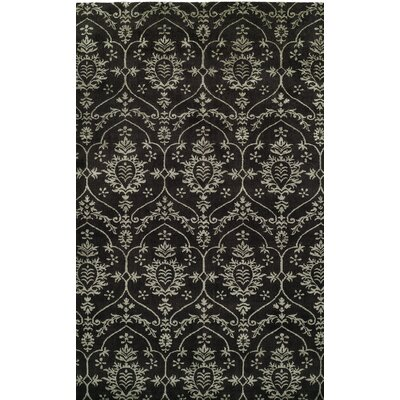 Hand-Woven Black Area Rug Rug size: 10 x 14