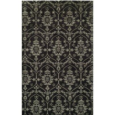 Hand-Woven Black Area Rug Rug size: 10 x 14