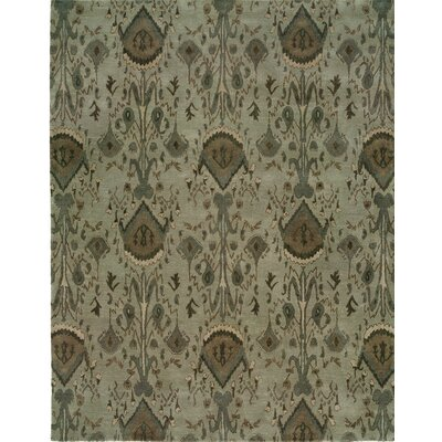 Hand-Tufted Gray Area Rug Rug size: 9 x 12