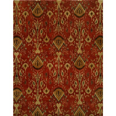 Hand-Tufted Red/Brown Area Rug Rug size: Round 8
