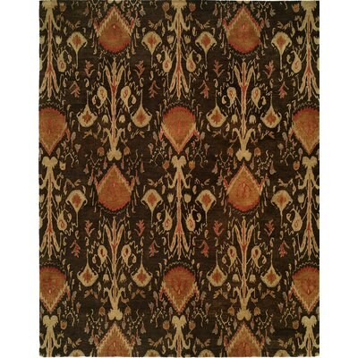 Hand-Tufted Brown Area Rug Rug size: Rectangle 96 x 136