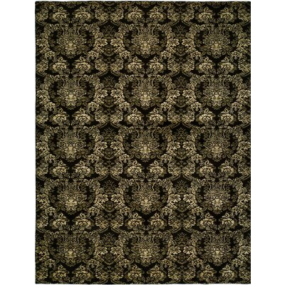 Hand-woven Black Area Rug Rug size: 9 x 12