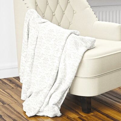 Diana Fleece Blanket Size: 60 L x 50 W, Color: Gray