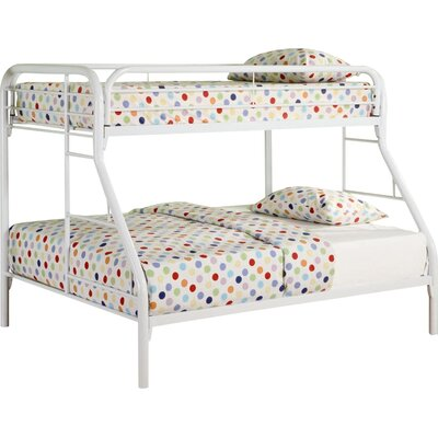Falls City Twin over Full Bunk Bed Finish: White