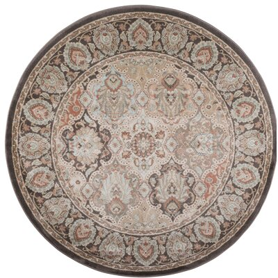 Garda Brown Area Rug Rug Size: Round 53