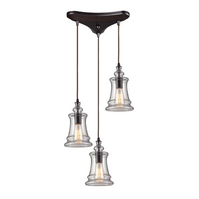 Pettey 60W 3-Light Pendant