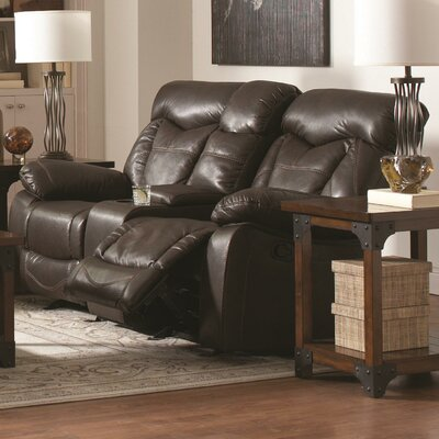 Zimmerman Motion Leather Reclining Loveseat CST39756 28185302
