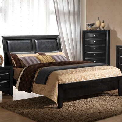 Emily Bed Finish: Black, Size: Queen
