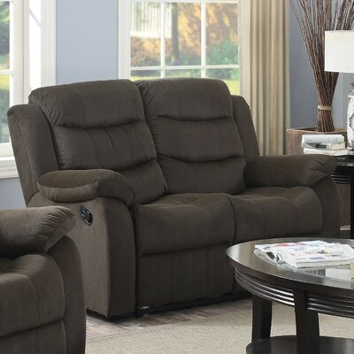 Bragenham Reclining Loveseat Color: Brown