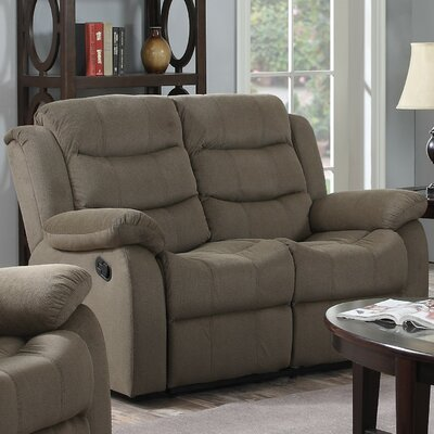 Bragenham Reclining Loveseat Color: Tan