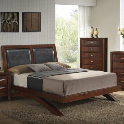 Berenice Bed Finish: Merlot, Size: Queen
