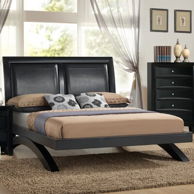 Berenice Bed Size: King, Finish: Black