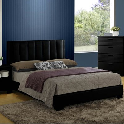Moderno Bed Color: Black