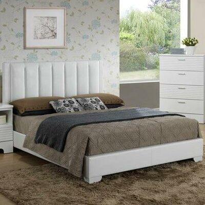 Moderno Bed Finish: White