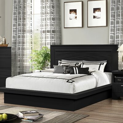 Joselyn Bed Finish: Black, Size: Queen