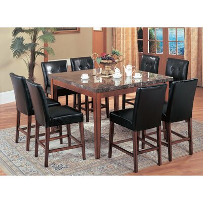 Castle Heights Marble Counter Height Square Dining Table
