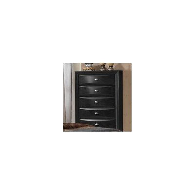 Antwerp 5 Drawer Chest Color: Black