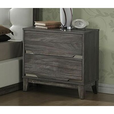 Brently 2 Drawer Nightstand
