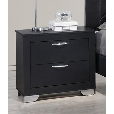 Belding 2 Drawer Nightstand Color: Black