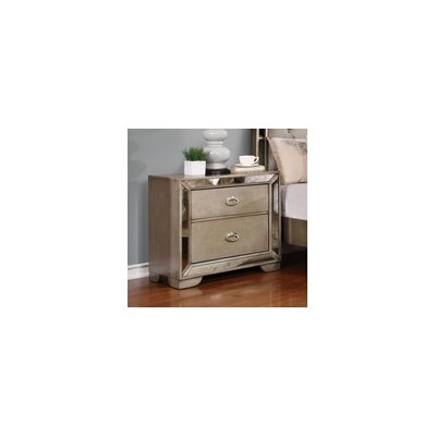 Saito 2 Drawer Nightstand