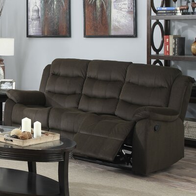 Casper Reclining Sofa Color: Brown