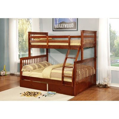 Tavian Twin over Full Bunk Bed Finish: Walnut