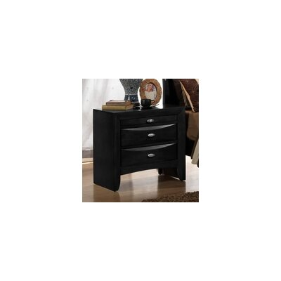 Antwerp 2 Drawer Nightstand Color: Black