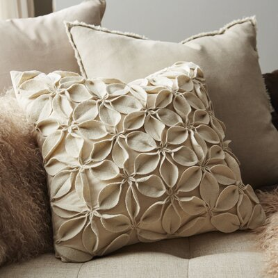 Florent Throw Pillow Color: Cream