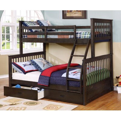 Paloma Mission Twin over Full Bunk Bed with Storage
