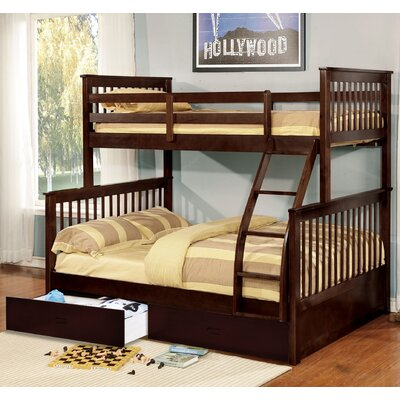Walter Twin Over Full Bunk Bed Color: Espresso