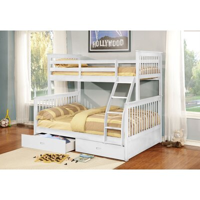 Walter Twin Over Full Bunk Bed Color: White