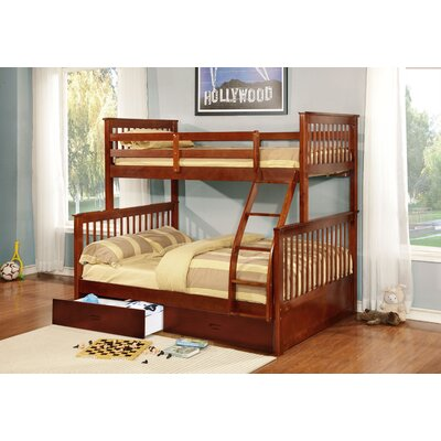 Walter Twin Over Full Bunk Bed Finish: Walnut