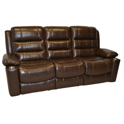 Trenton Leather Reclining Sofa