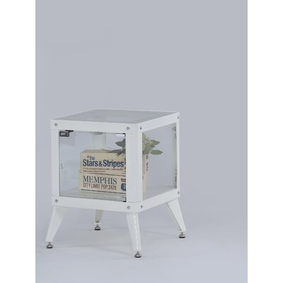 Drew End Table Color: White