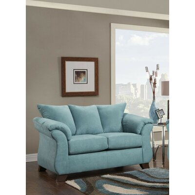 Brayton Loveseat Finish: Turquoise